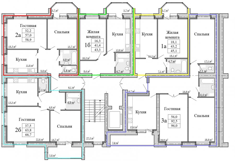 План 4-9 этажа дома 57Б по ул. Московская